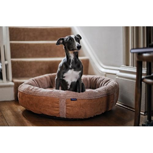 caramel fleece luxury dog bed medium wolfybeds. Black Bedroom Furniture Sets. Home Design Ideas