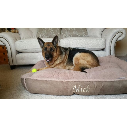 Cookie Dough Brown Fleece Luxury Cradle Dog Bed Size Xl And Xxl